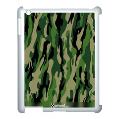Green Military Vector Pattern Texture Apple Ipad 3/4 Case (white) by BangZart
