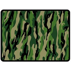 Green Military Vector Pattern Texture Double Sided Fleece Blanket (large)  by BangZart