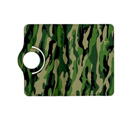 Green Military Vector Pattern Texture Kindle Fire Hd (2013) Flip 360 Case by BangZart
