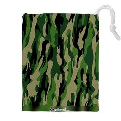 Green Military Vector Pattern Texture Drawstring Pouches (xxl) by BangZart