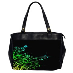 Abstract Colorful Plants Office Handbags (2 Sides)  by BangZart