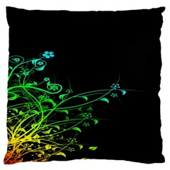 Abstract Colorful Plants Large Cushion Case (one Side) by BangZart