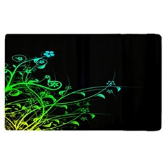 Abstract Colorful Plants Apple Ipad 2 Flip Case by BangZart