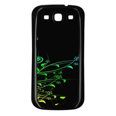Abstract Colorful Plants Samsung Galaxy S3 Back Case (black) by BangZart
