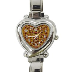 Angels In Gold And Flowers Of Paradise Rocks Heart Italian Charm Watch by pepitasart