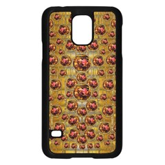 Angels In Gold And Flowers Of Paradise Rocks Samsung Galaxy S5 Case (black) by pepitasart