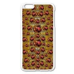 Angels In Gold And Flowers Of Paradise Rocks Apple Iphone 6 Plus/6s Plus Enamel White Case by pepitasart