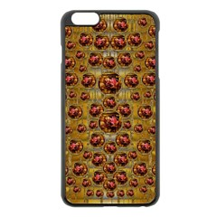 Angels In Gold And Flowers Of Paradise Rocks Apple Iphone 6 Plus/6s Plus Black Enamel Case by pepitasart