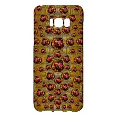 Angels In Gold And Flowers Of Paradise Rocks Samsung Galaxy S8 Plus Hardshell Case  by pepitasart