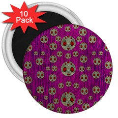 Ladybug In The Forest Of Fantasy 3  Magnets (10 Pack)  by pepitasart