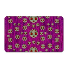 Ladybug In The Forest Of Fantasy Magnet (rectangular) by pepitasart