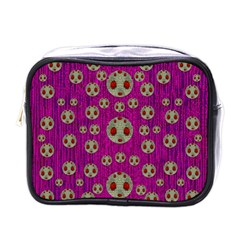 Ladybug In The Forest Of Fantasy Mini Toiletries Bags by pepitasart