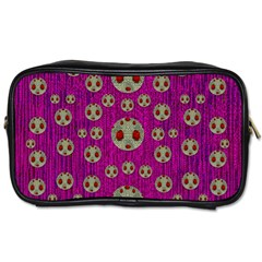 Ladybug In The Forest Of Fantasy Toiletries Bags by pepitasart