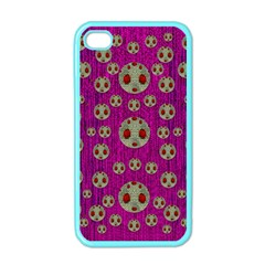 Ladybug In The Forest Of Fantasy Apple Iphone 4 Case (color) by pepitasart