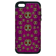 Ladybug In The Forest Of Fantasy Apple Iphone 5 Hardshell Case (pc+silicone) by pepitasart