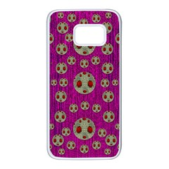 Ladybug In The Forest Of Fantasy Samsung Galaxy S7 White Seamless Case by pepitasart