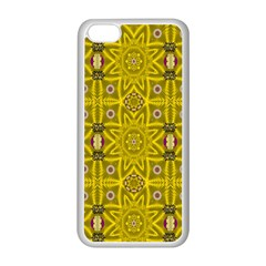 Stars And Flowers In The Forest Of Paradise Love Popart Apple Iphone 5c Seamless Case (white) by pepitasart