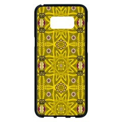 Stars And Flowers In The Forest Of Paradise Love Popart Samsung Galaxy S8 Plus Black Seamless Case by pepitasart