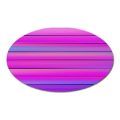 Cool Abstract Lines Oval Magnet by BangZart