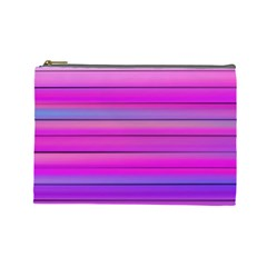 Cool Abstract Lines Cosmetic Bag (large)  by BangZart