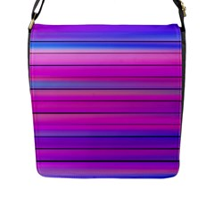 Cool Abstract Lines Flap Messenger Bag (l)  by BangZart