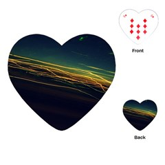 Night Lights Playing Cards (heart)  by BangZart