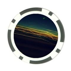 Night Lights Poker Chip Card Guard (10 Pack) by BangZart
