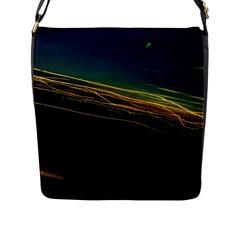 Night Lights Flap Messenger Bag (l)  by BangZart