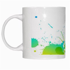 Colorful Abstract White Mugs by BangZart