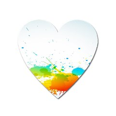Colorful Abstract Heart Magnet by BangZart