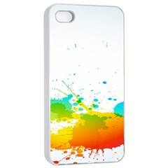Colorful Abstract Apple Iphone 4/4s Seamless Case (white) by BangZart