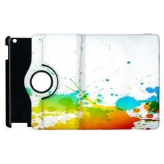 Colorful Abstract Apple Ipad 2 Flip 360 Case by BangZart