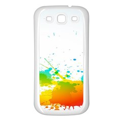 Colorful Abstract Samsung Galaxy S3 Back Case (white) by BangZart