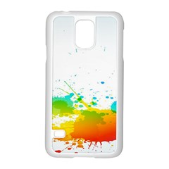 Colorful Abstract Samsung Galaxy S5 Case (white) by BangZart