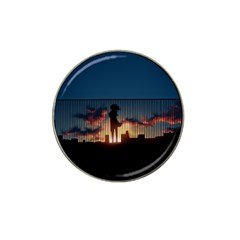 Art Sunset Anime Afternoon Hat Clip Ball Marker (4 Pack) by BangZart