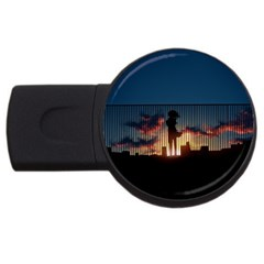 Art Sunset Anime Afternoon Usb Flash Drive Round (4 Gb) by BangZart