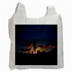 Art Sunset Anime Afternoon Recycle Bag (two Side)  by BangZart
