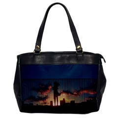 Art Sunset Anime Afternoon Office Handbags by BangZart