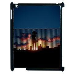 Art Sunset Anime Afternoon Apple Ipad 2 Case (black) by BangZart
