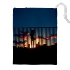 Art Sunset Anime Afternoon Drawstring Pouches (xxl) by BangZart