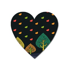 Vector Color Tree Heart Magnet by BangZart