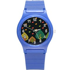 Vector Color Tree Round Plastic Sport Watch (s) by BangZart