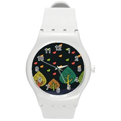 Vector Color Tree Round Plastic Sport Watch (m) by BangZart