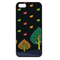 Vector Color Tree Apple Iphone 5 Seamless Case (black) by BangZart