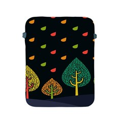 Vector Color Tree Apple Ipad 2/3/4 Protective Soft Cases by BangZart