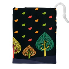 Vector Color Tree Drawstring Pouches (xxl)