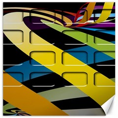 Colorful Docking Frame Canvas 12  X 12   by BangZart