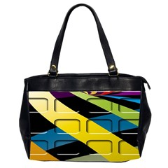 Colorful Docking Frame Office Handbags (2 Sides)  by BangZart