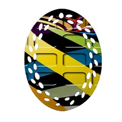 Colorful Docking Frame Oval Filigree Ornament (two Sides) by BangZart