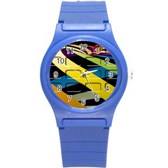 Colorful Docking Frame Round Plastic Sport Watch (s) by BangZart